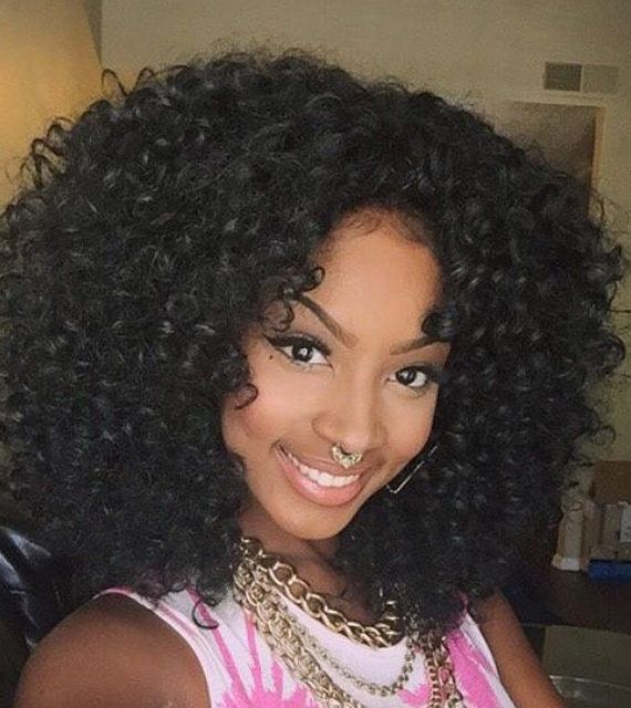 Cheap Synthetic Afro Kinky Curly Wig Heat Resistant